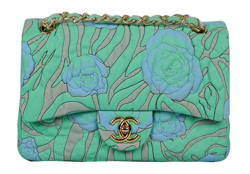 Chanel Classic 2.55 Flap bag With Blue Rose Green 50135 Ch3278807 Don't tell my ex wife, some things she doesn't need to know.