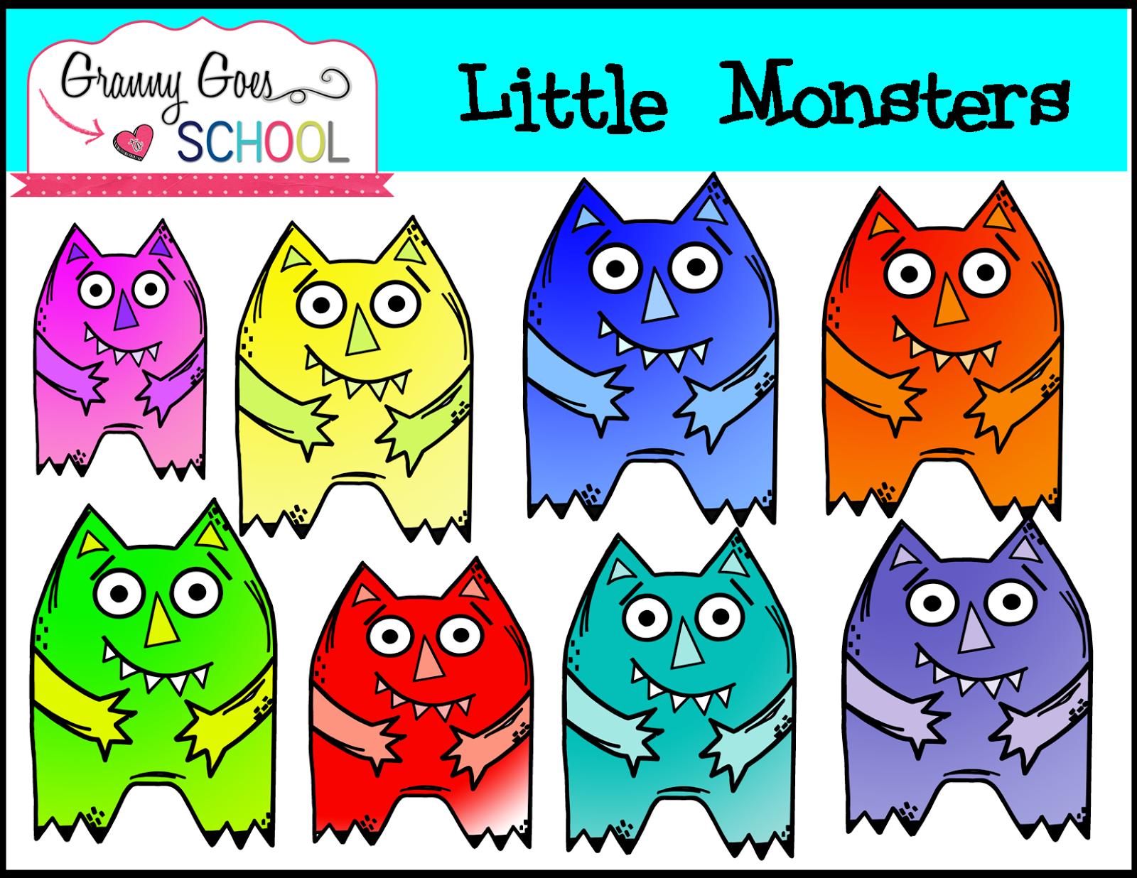 http://grannygoestoschool.blogspot.com/2014/09/little-monsters-freebie-clip-art.html