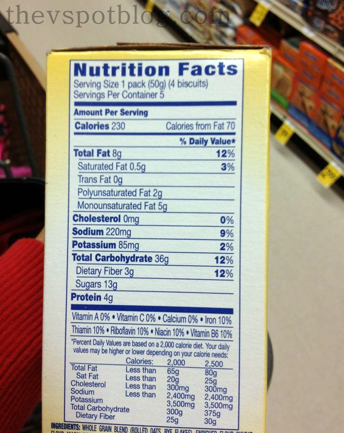 Belvita Bar Nutrition Facts. image source. Breakfast on the go My new favorite thing - The V Spot