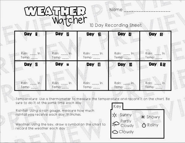 weather recording sheet pictures to pin on pinterest