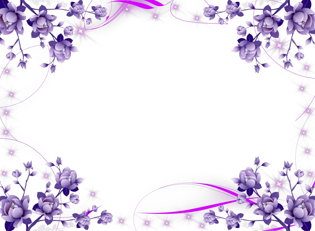 Purple Flower Borders and Frames