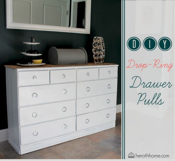 DIY Drop Ring Drawer Pulls