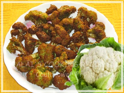 Cauliflower Fry Flavoured with Mint, Coriander, Green Chili and Curd