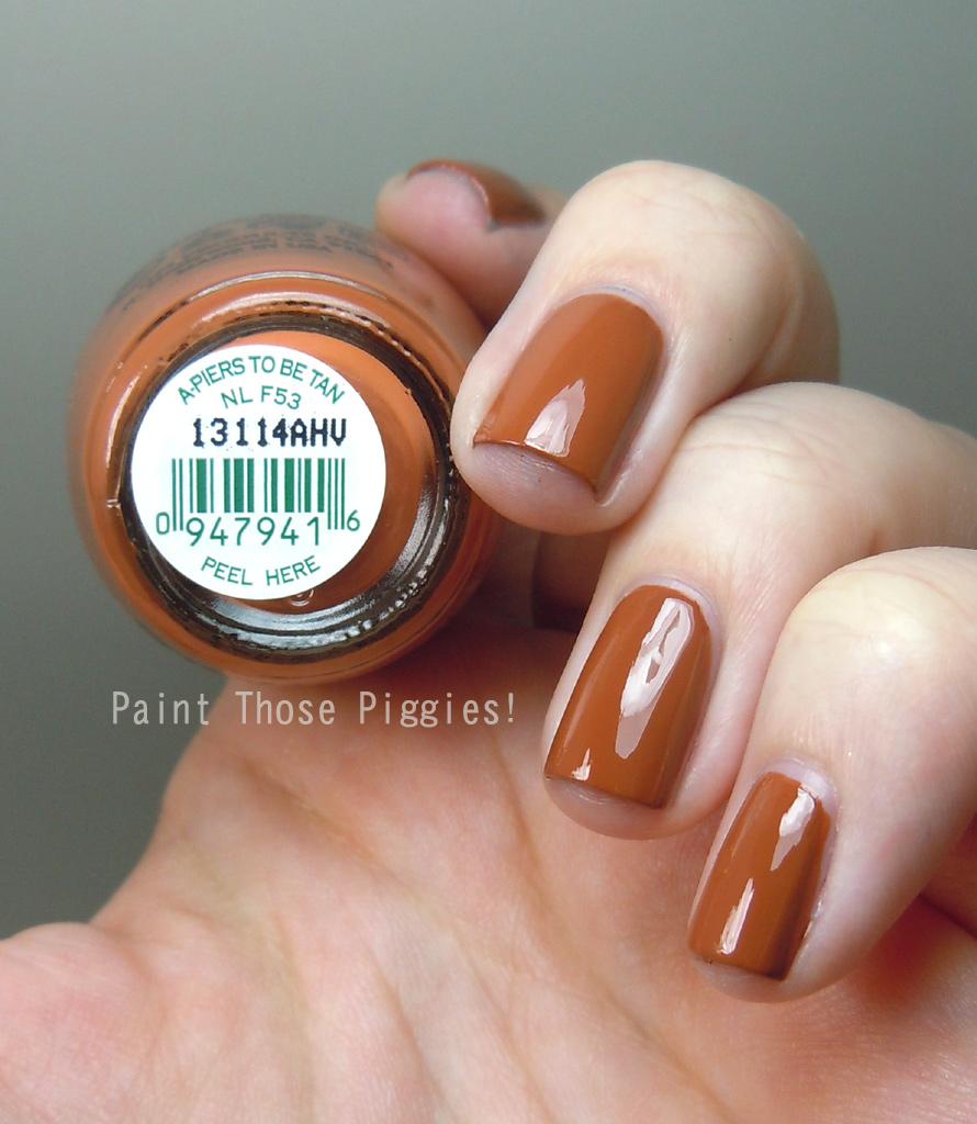 Paint Those Piggies!: OPI A-Piers To Be Tan: Swatches and Review