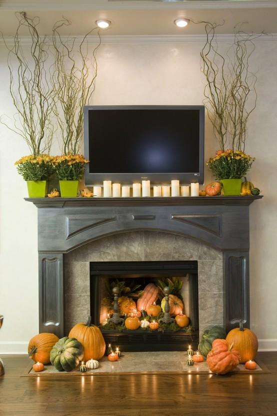 A glimpse inside autumn decorative ideas - Fabulous ideas of fake fireplace decoration ideas ...