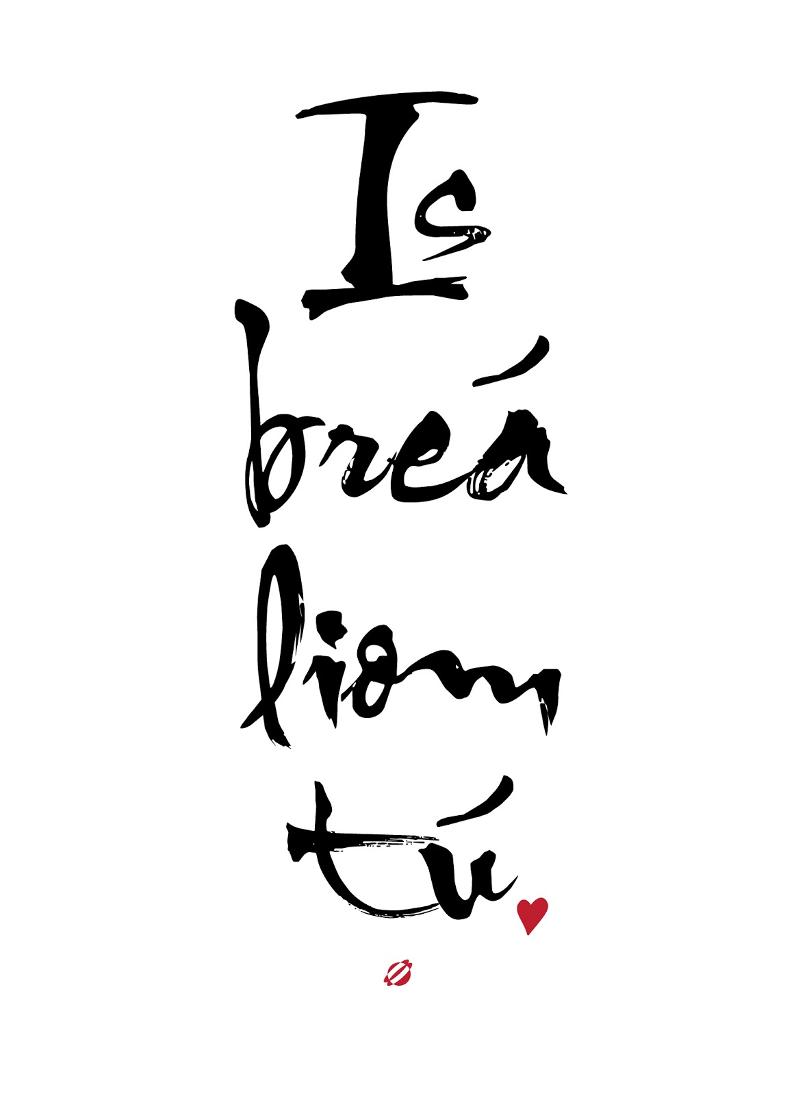 LostBumblebee ©2014 I love you Gaelic Is Brea liom tu- free printable - Personal use only