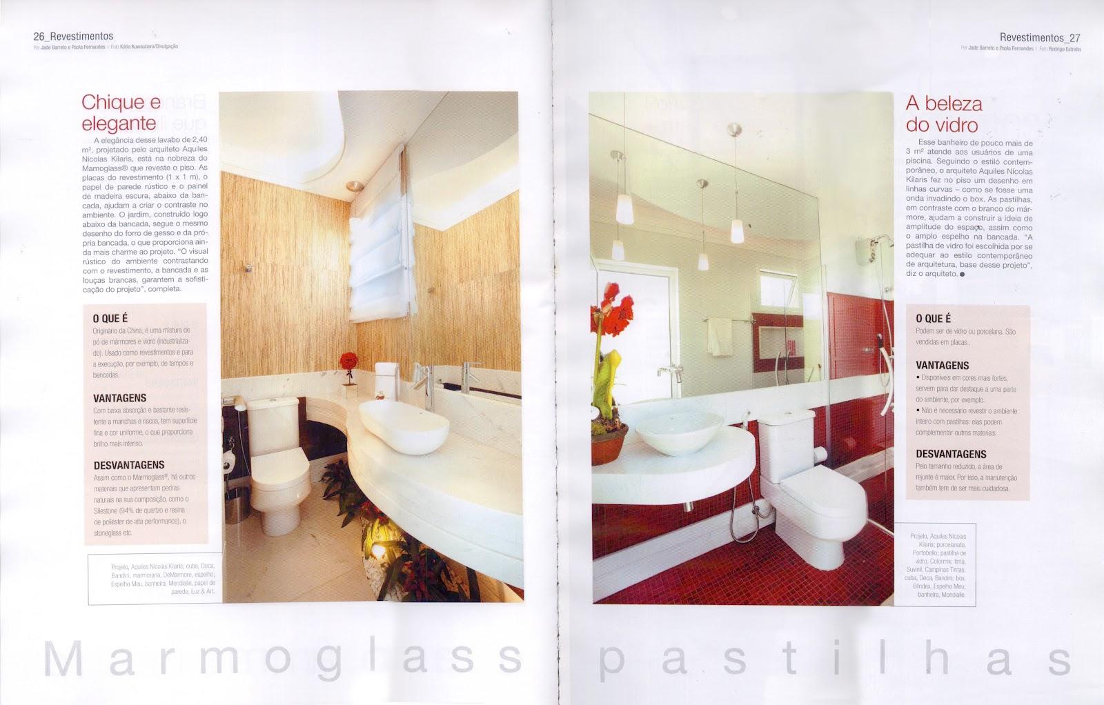 Guia de Decoração Banheiros número 1 publicou dois banheiros  #A93322 1600x1022 Banheiro De Arquiteto