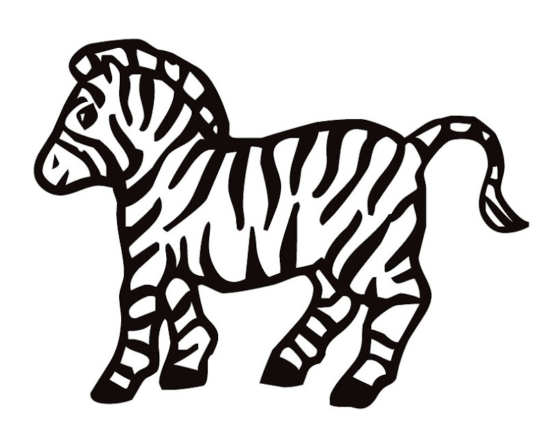 Cartoon Zebra Coloring Pages title=