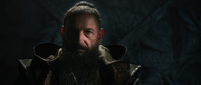 Ben Kingsley as the Mandarin.