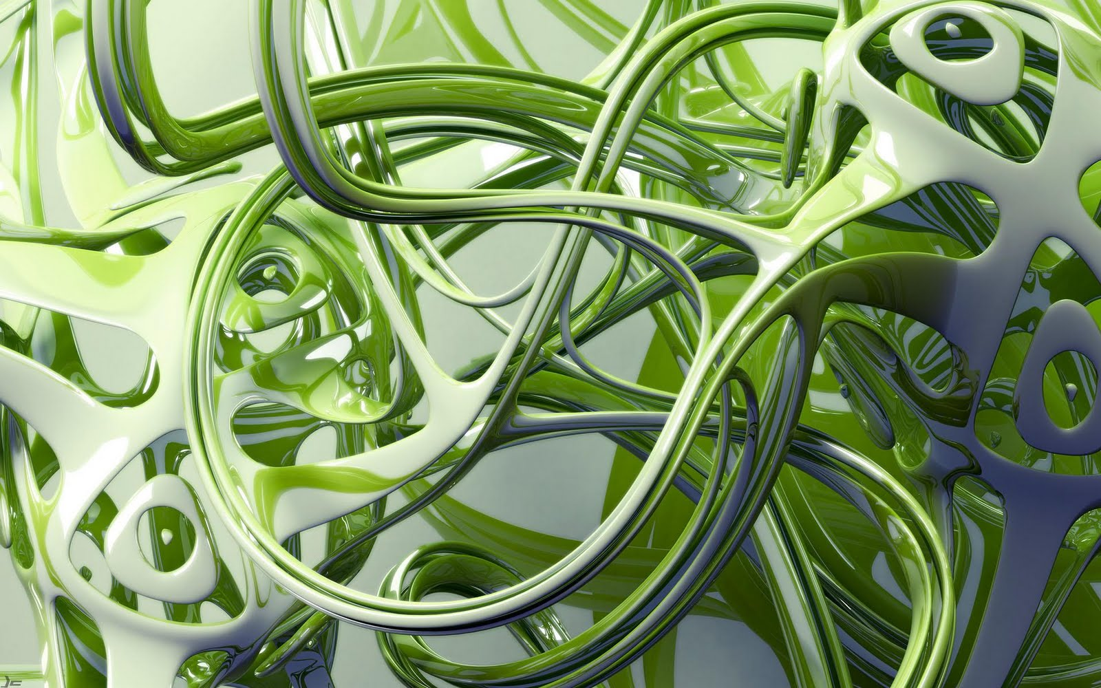 3d wallpaper, graphic art, green slime wallpaper