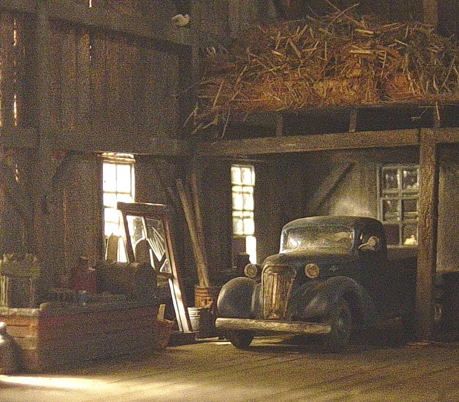 '37 chevy in the barn