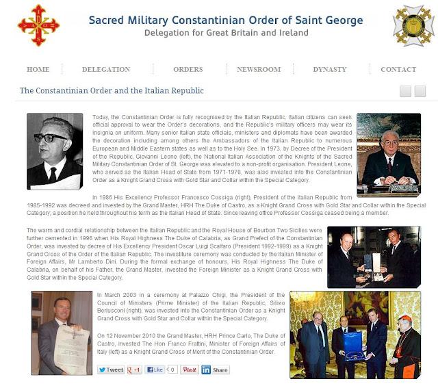 Silvio Berlusconi, el Vaticano y la Orden Constantina Brt