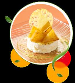 Mousse Ligeira de Côco com Infusão de Citronela e Ananás