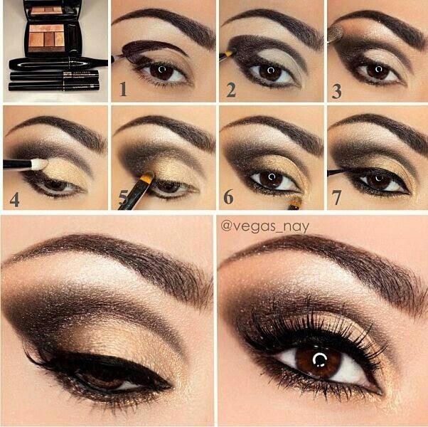 Golden Eye Shades For Bridal Makeup Tutorial B G Fashion
