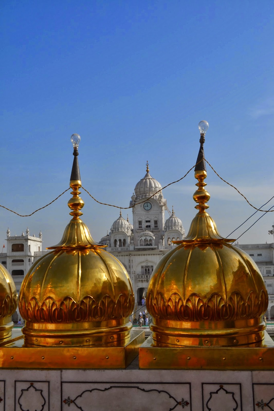 Closure look of top of Golden temple, Amritsar