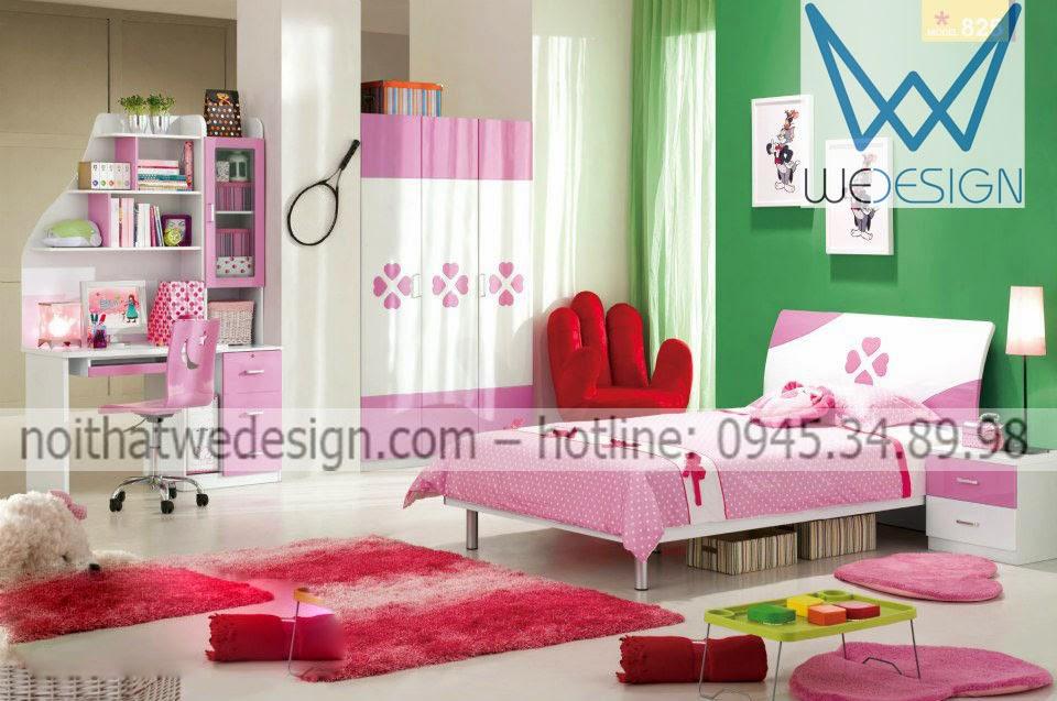 Phòng ngủ bông hoa cho con gái yêu