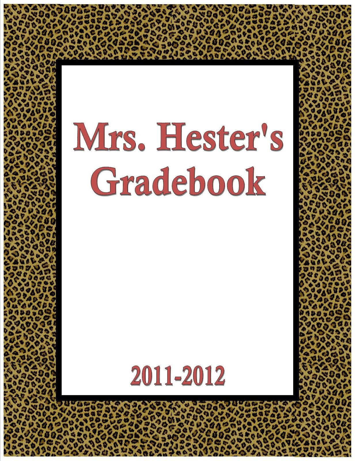Mrs Hesters Classroom Paper Gradebook – Grade Book Template Word