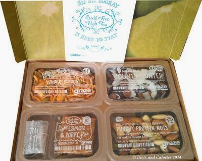 Graze snack selection box with lemon poppy seed cake