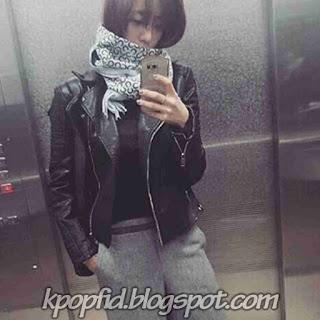 Foto Selfie Ham Eunjung T-ara Keren Rambut Pendek