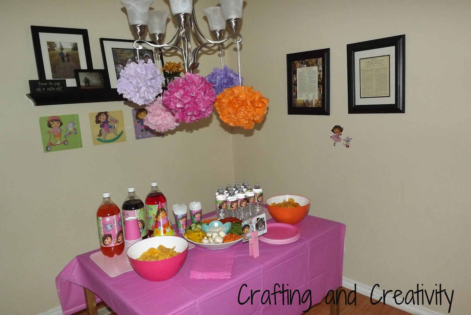 I Made Tissue Paper Pom Pom So Easy Inexpensive And They Are Just So Perfect For A Girl S Party