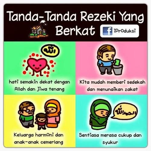 Tanda-Tanda Rezeki Yang Berkat, tazkirah
