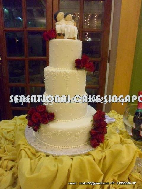 The Sensational Cakes: SMILEY WEDDING CAKE ON COUCH # WHITE ROYAL ...