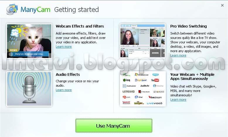 ManyCam - Software Gratis Untuk WebCam dan Video Chat