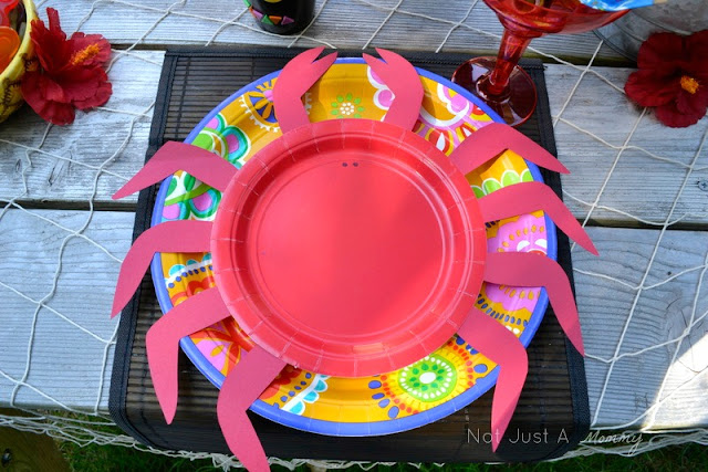 Aloha To Summer Party kids table crab plates