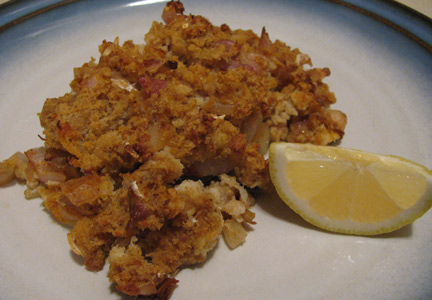 real food fast baked white fish with crab topping ForCrab Topping For Fish