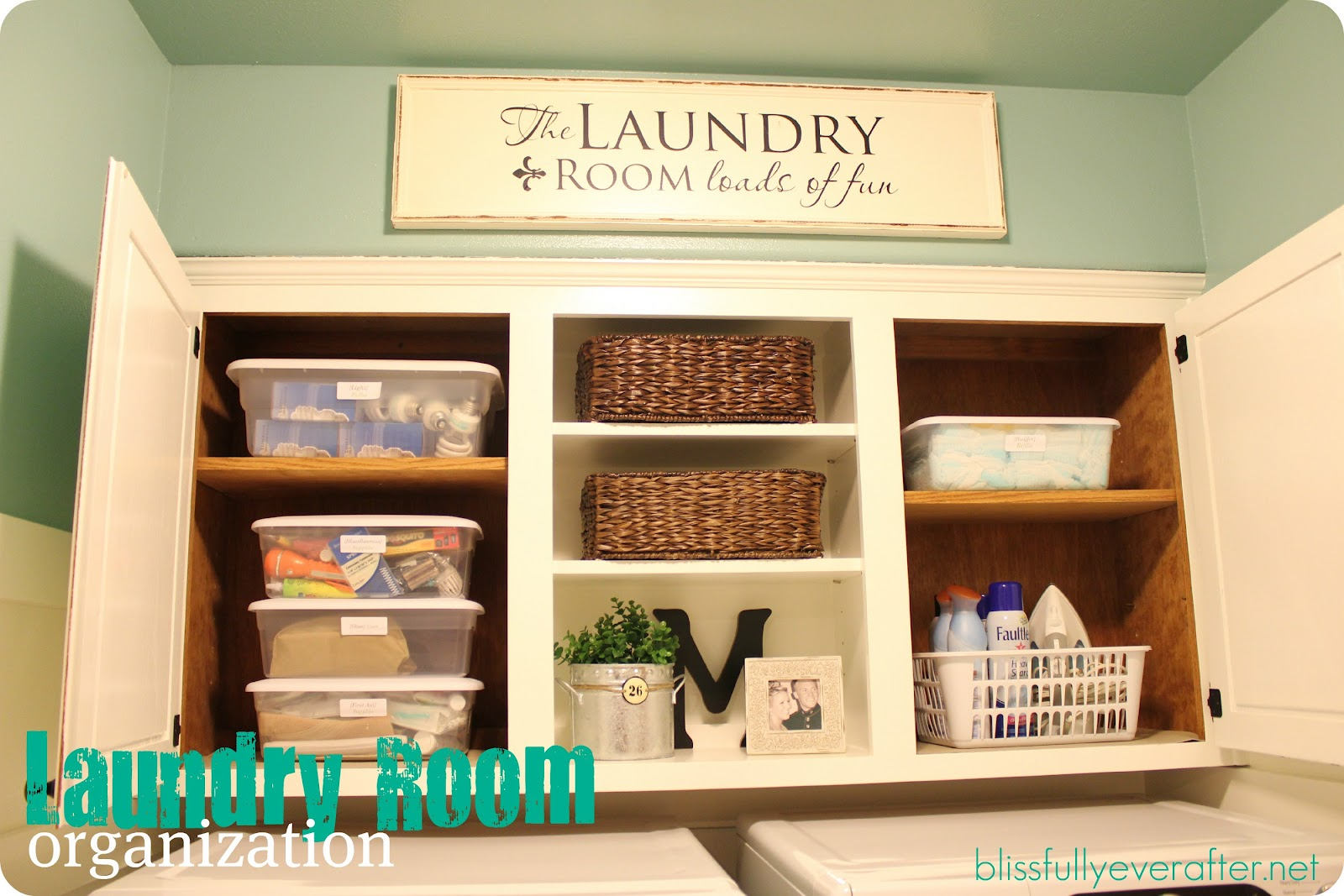 spring cleaning challenge laundry room organization blissfully decor