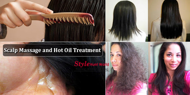 How Grow Hair With Scalp Massage and Hot Oil Treatment - Best Home Remedy!