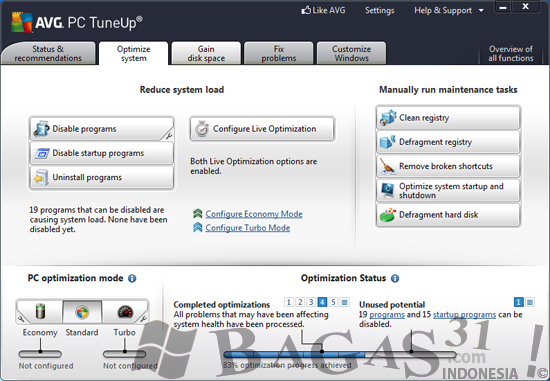 AVG PC TuneUp 2012 Full Patch 2