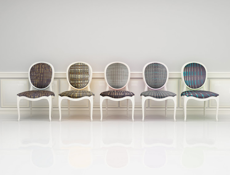 Knitted upholstered chairs
