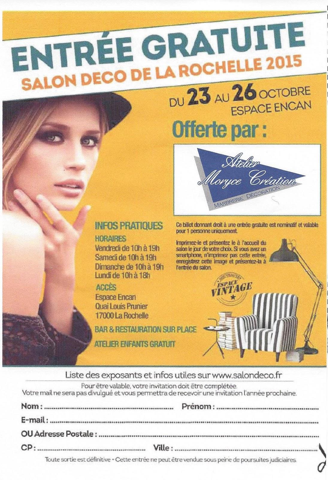 L 39 atelier moryce creation marbrerie d coration invitation gratuite su salon de la d co de la - Salon de la deco ...