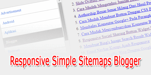 Responsive Simple Sitemaps Blogger
