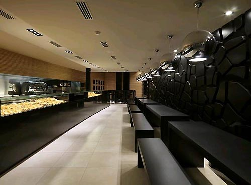 Bakery Shop with Interior Black Design Ideas