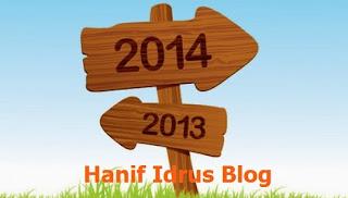 Pencapaian Hanif Idrus Blog 2013