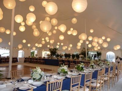 Decoraci n para boda civil for Decoracion de salon con telas y luces
