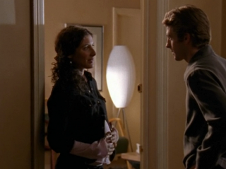 Lisa Edelstein (Lauren) pregnant on Felicity.