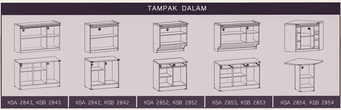 Tampak Dalam Kitchen Set Natalie Series Graver Furniture