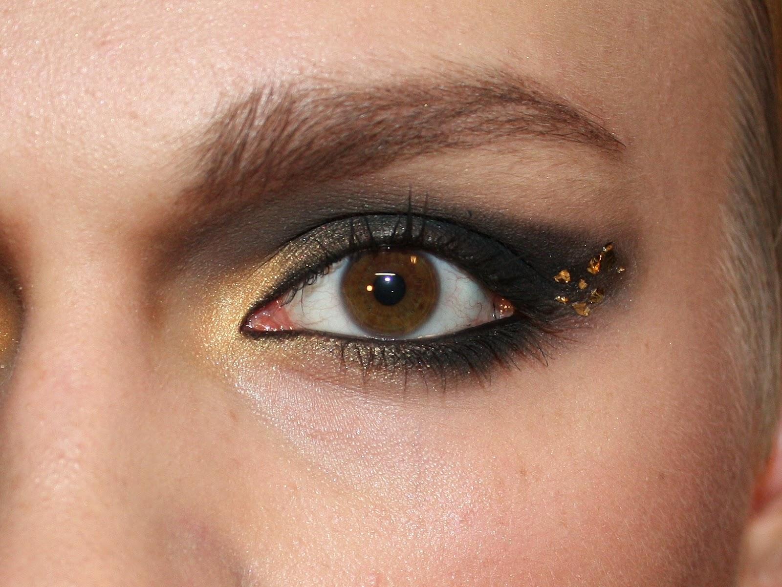 Smilekylee Emma Watson Gold Leaf Makeup Deathly Hallows Premiere