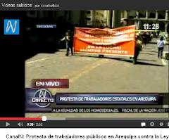 VIDEO : HOY  AL MEDIODÍA : PROTESTA EN AREQUIPA