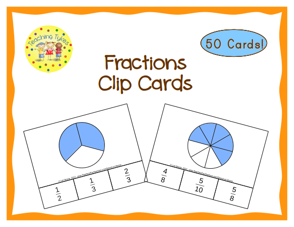 https://www.teacherspayteachers.com/Product/Fractions-Clip-Cards-Common-Core-Aligned-1007117