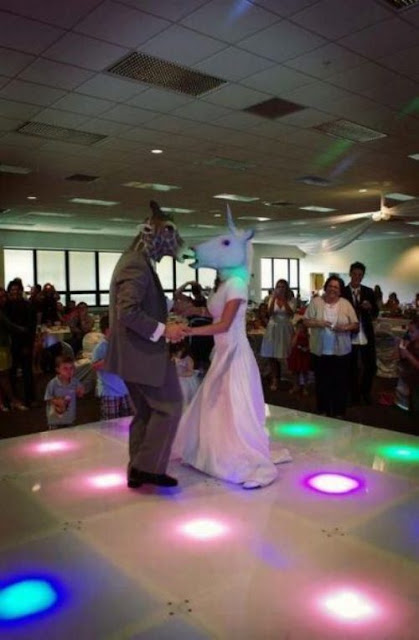 Weird wedding dance.