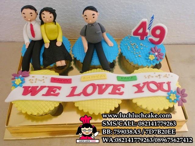 Family Cupcake Birthday Daerah Surabaya - Sidoarjo (Repeat Order)
