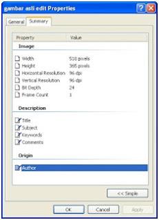 Cara mengetahui foto asli atau palsu menggunakan system properties windows