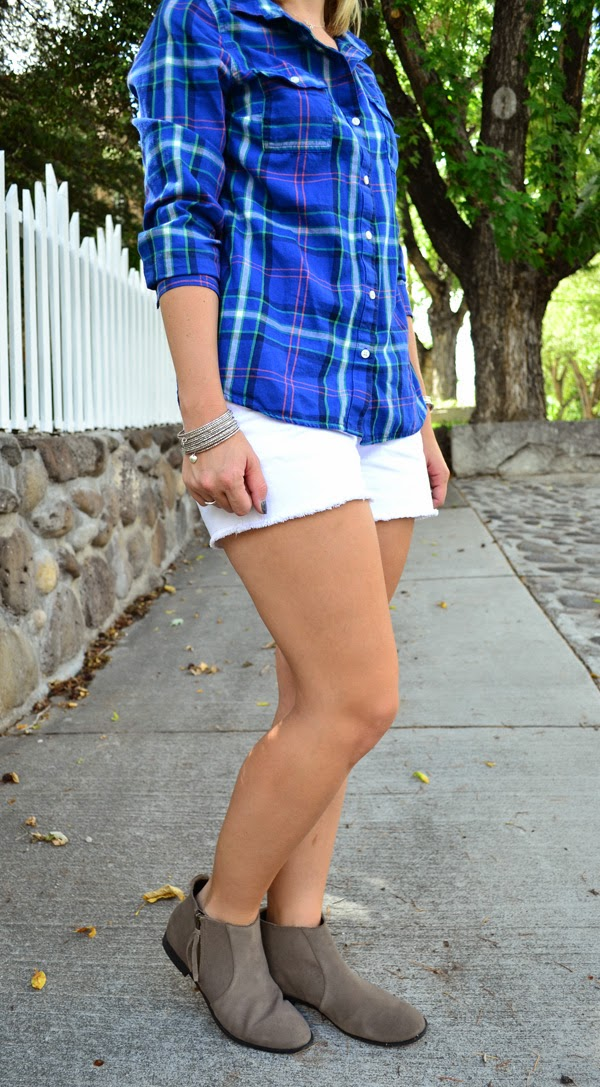plaid shirt, flannel, old navy, shorts, style blogger