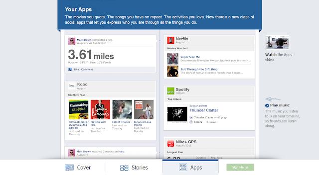 timeline+facebook+aplicativos