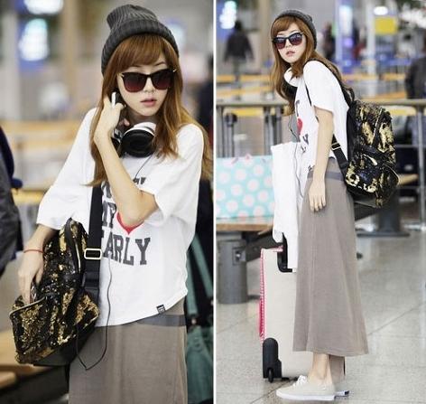 SNSD Jessica airport fashion style