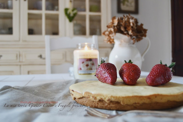 My Cedar & Strawberry Cake -shabby&countrylife.blogspot.it